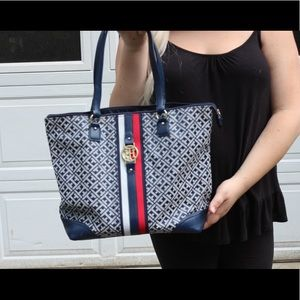 Tommy Hilfiger Blue Tote Bag